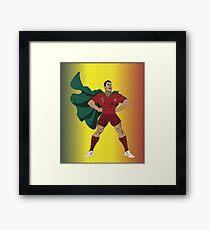 Superhero Ronaldo Framed Print