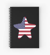 American Flag Starfish Happy 4th of July Spiralblock