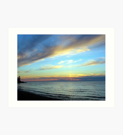 Clouds Over the Point Art Print