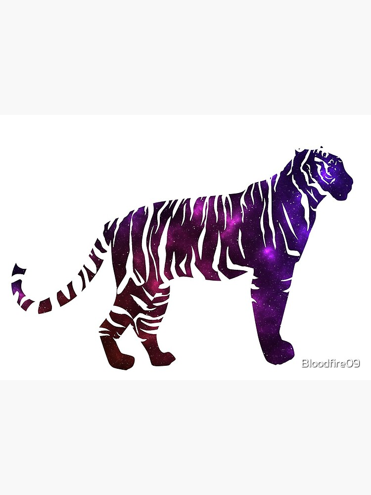 Space Silhouette Tiger With White Stripes Greeting Card By Bloodfire09 Redbubble All png & cliparts images on nicepng are best quality. redbubble