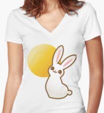 SunBunny! Women's Fitted V-Neck T-Shirt