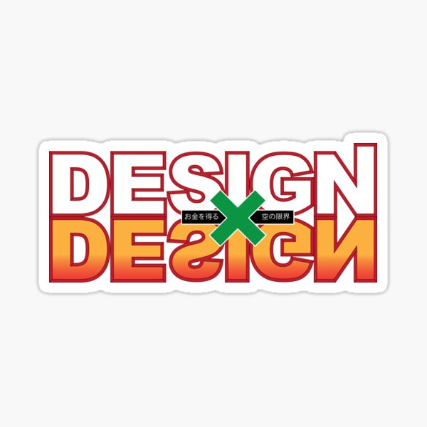 Design x Design Sticker