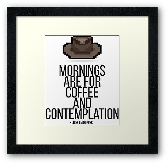 Jim Hopper Stranger Things Morningcoffee Quote Pixel Hat