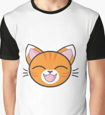 Happy Tabby Kitty Sticker! Graphic T-Shirt