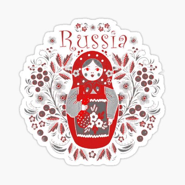 Russian  Matrioshka Vintage Design Sticker