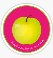 An apple a day keeps the Doctor away Sticker