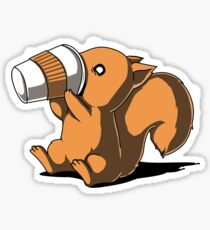 Coffee Squirrel Sticker