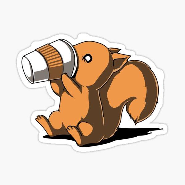 Coffee Squirrel Sticker