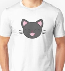 Happy Black Kitty Sticker! Unisex T-Shirt