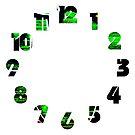 Graffiti 18 Numbers Overlay Wall Clock by Alan Harman