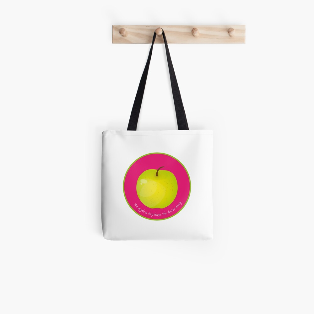 Tote bag «An apple a day keeps the Doctor away»