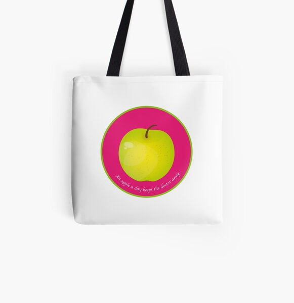 An apple a day keeps the Doctor away Tote bag doublé