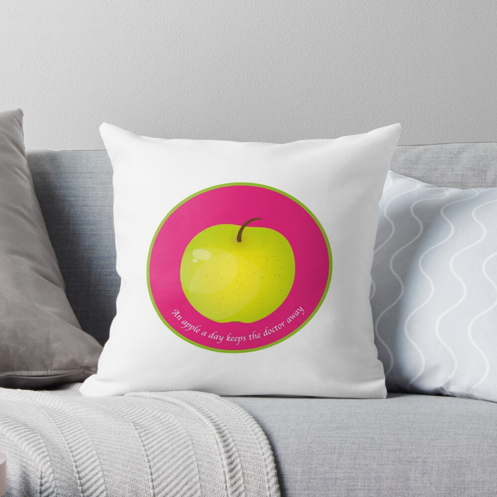 Coussin «An apple a day keeps the Doctor away»