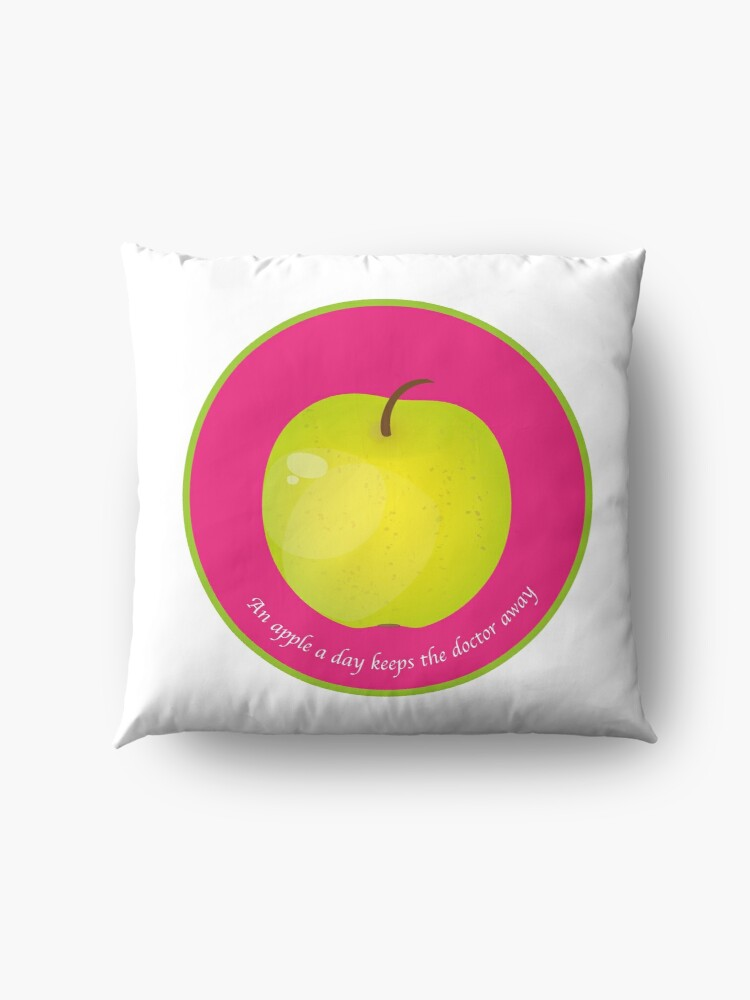 Coussin de sol ''An apple a day keeps the Doctor away': autre vue