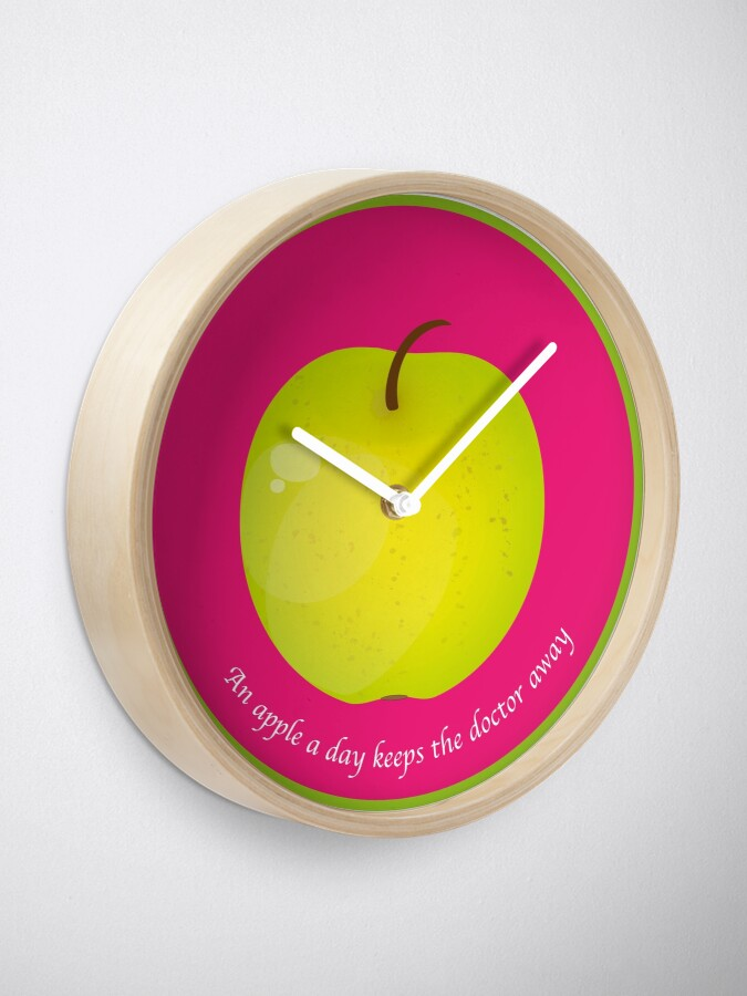 Horloge ''An apple a day keeps the Doctor away' : autre vue
