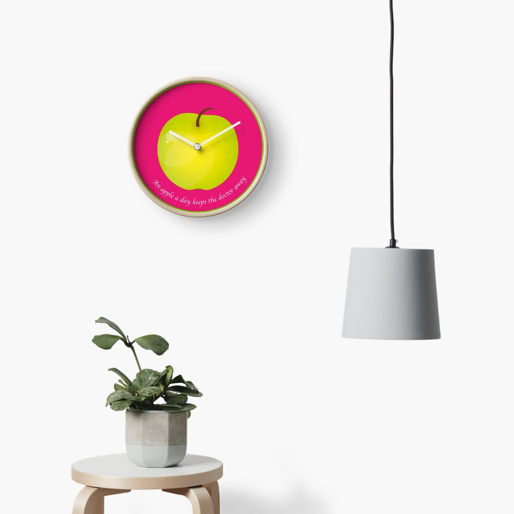 Horloge « An apple a day keeps the Doctor away»