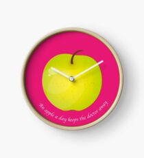 An apple a day keeps the Doctor away Horloge