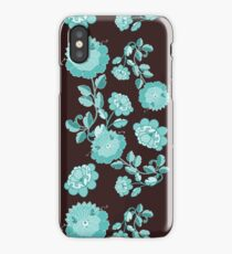 Stylized flowers and leaves iPhone Case