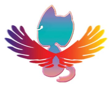 Winged Blue and Pink Graffiti Cat by Art2Me