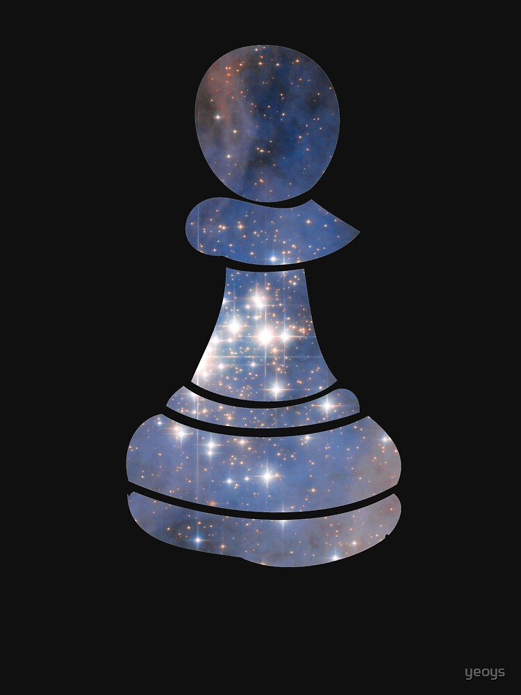 Pawn Chess Piece Starry Night Galaxy - Cool Chess Club Gift by yeoys