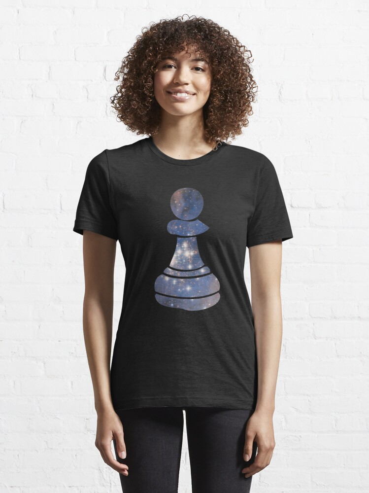 Alternate view of Pawn Chess Piece Starry Night Galaxy - Cool Chess Club Gift Essential T-Shirt