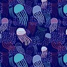 Deep Sea Jellyfish Dark Purple by kellie-jayne