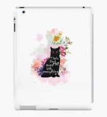 A little black cat gues with everything iPad Case/Skin
