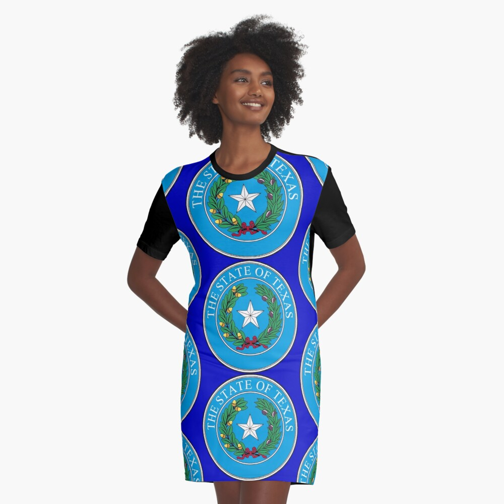 Seal of Texas Graphic T-Shirt Dress