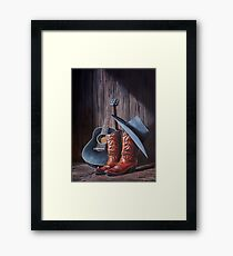 """Boots"" Framed Print"
