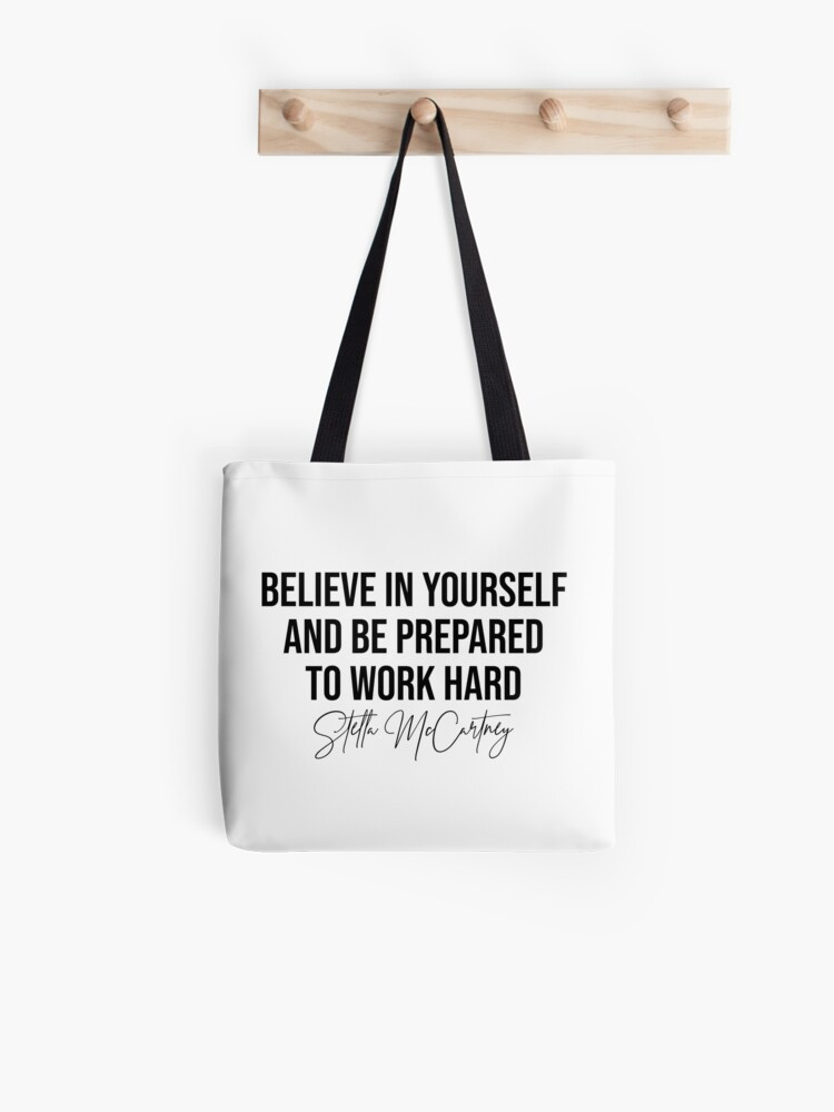 Believe Fashion Tote Bag