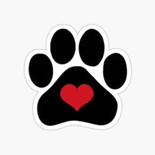 DOG PAW HEART Sticker