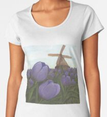 Dutch Tulips by Cecile Grace Charles Women's Premium T-Shirt