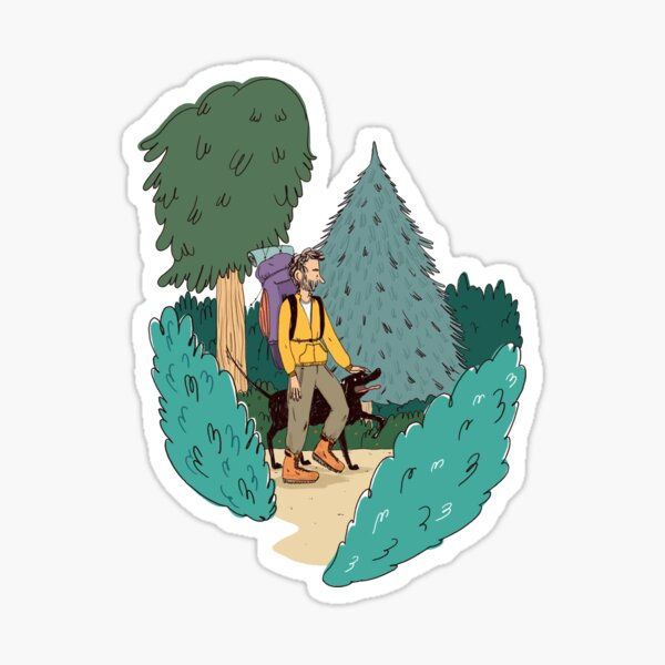 In the wood Sticker