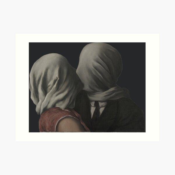René Magritte - Los amantes (París, 1928) Lámina artística