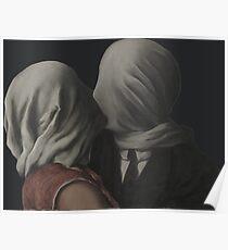 René Magritte - Die Liebenden (Paris 1928) Poster