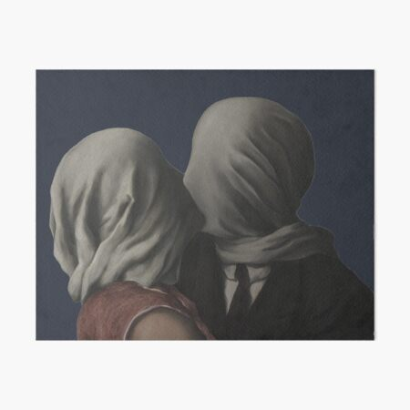 René Magritte – The Lovers (Paris 1928) Art Board Print