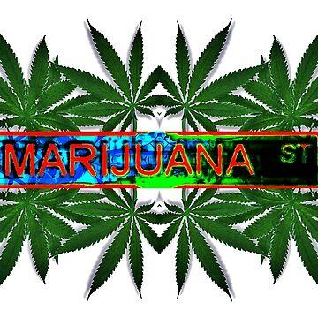 Marijuana Street Leafs by asphaltimages
