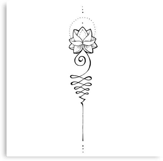 """The Unalome: """"Unalome Lotus"""" Canvas Print By Katelyns2505"""