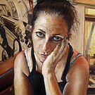 50/50 Self Portrait by Cameron Hampton