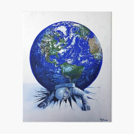 Weight Of The World Art Board Print