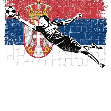 Serbia Soccer Supporter Goalkeeper Shirt by zeno27