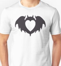 Clandestine Bat Heart - Grey Unisex T-Shirt