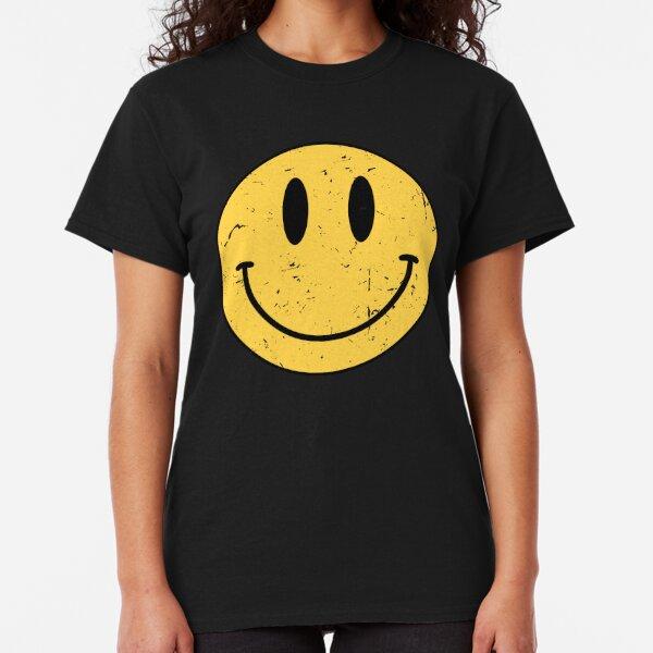 Smile 90/'s Acid Music Rave Party Hacienda FAC51 Dance Top GLITCH FACE T-SHIRT