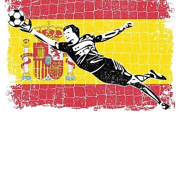 Spain Soccer Goalie Goal Keeper Shirt by zeno27