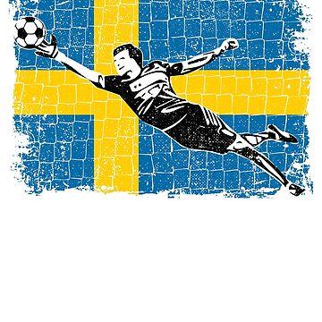Sweden Soccer Supporter Goalkeeper Shirt by zeno27