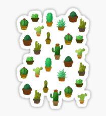 Cute cactus pattern Sticker