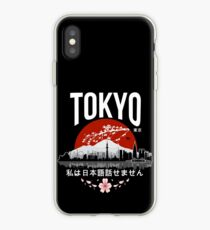 Tokyo - 'I don't speak Japanese': White Version iPhone Case