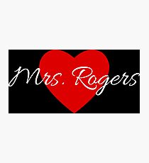 Mrs. Rogers Photographic Print