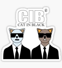 Men (CAT) IN BLACK, CIB, Funny Sayings, Parody Sticker
