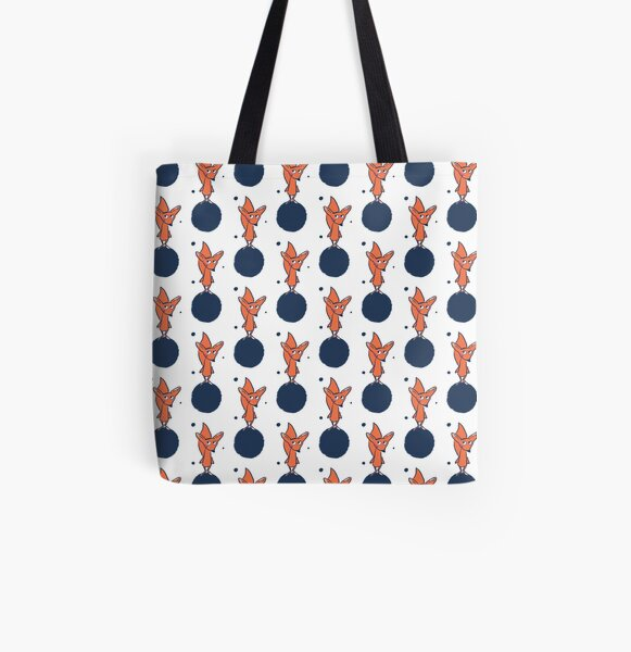 Fuchs im Weltall Allover-Print Tote Bag